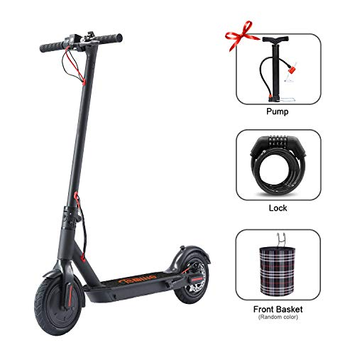 Tsmine Electric Kick Scooter for Adults, Lightweight Foldable Scooter up to 18.6 Miles Range 8.5' Tires Scooter Portable Folding Commuter Scooter for Adults with 250W Motor Double Braking System