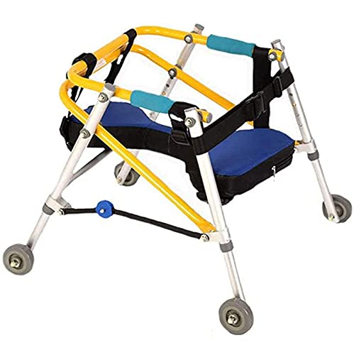 MIAOKU Andador Infantil Andador Plegable con Rueda y Asiento Andador Ligero Plegable Andador de rehabilitación Infantil, para parálisis Cerebral y rehabilitación de Miembros Inferiores