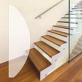 PremiumPlus Antirutschfolie Anti-Rutsch Stufenmatten, transparent, selbstklebend, Rutschschutz, Rutschhemmung R10/DIN 51130, (180x600 mm - halbrund)