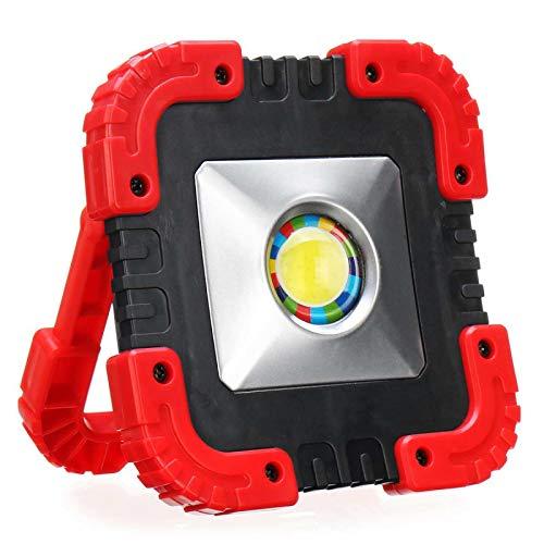 MIOANFG 50w COB Lámpara de Trabajo Impermeable LED Portátil Linterna USB Camping Luz Led Portátil Foco de Emergencia Luz Solar Proyector