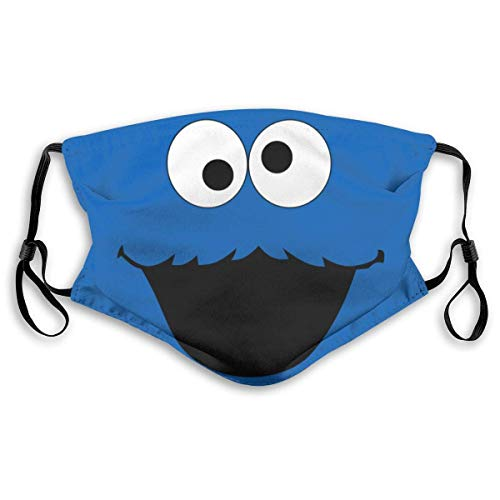 Comfortable Windproof maskCookie-Monster Novelty ArtPrinted Facial decorations for adult