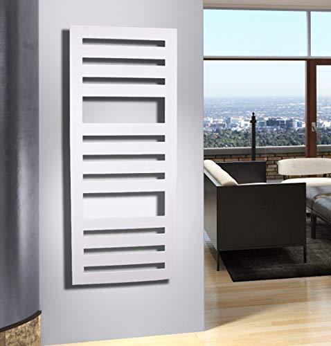 Badheizkörper Design Zebra 2, HxB: 144 x 60 cm, 911 Watt, weiß (Marke: Szagato) Made in Germany/Bad und Wohnraum-Heizkörper (Mittelanschluss)