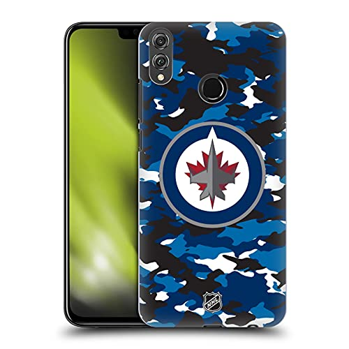 Head Case Designs Licenciado Oficialmente NHL Camuflaje Jets Winnipeg Carcasa rígida Compatible con Huawei Honor 8X / View 10 Lite