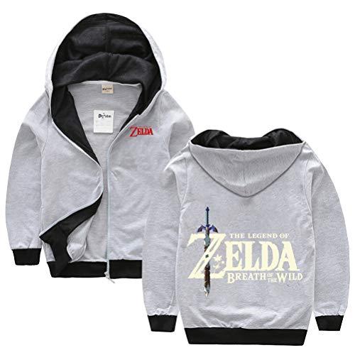 The Legend of Zelda Pullover Druck Hübsche Jacke Kinder Hohe Qualität Pullover Full-Zip Langarm Hoodies Mode Klassische Sweatshirt Alle Baumwolle Mädchen Outwear Jungen Freizeitmäntel Junge und Mädche
