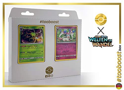 Wielie (Vacilys) 11/236 & Feelinara (Nymphali) 155/236 - #tooboost X Sonne & Mond 12 Welten im Wandel - Coffret de 10 Cartes Pokémon Allemandes