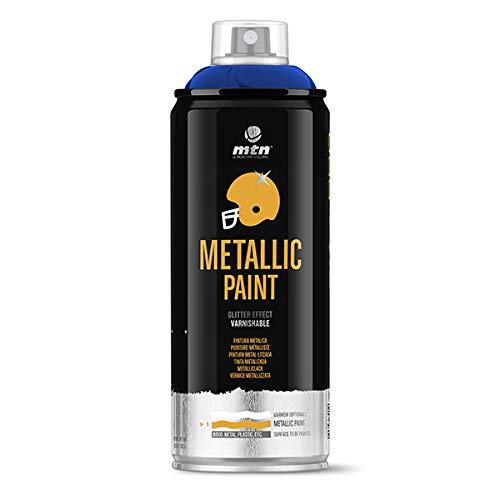 Montana Colors MTN PRO Metalizado Azul Oscuro R-5026 400ml, Azul Oscuro, 400 ml