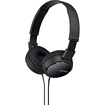 Sony ZX Series Wired On-Ear Headphones Black MDR-ZX110