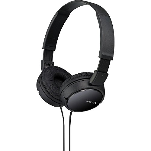 Sony ZX Series Wired On-Ear Headphones, Black MDR-ZX110