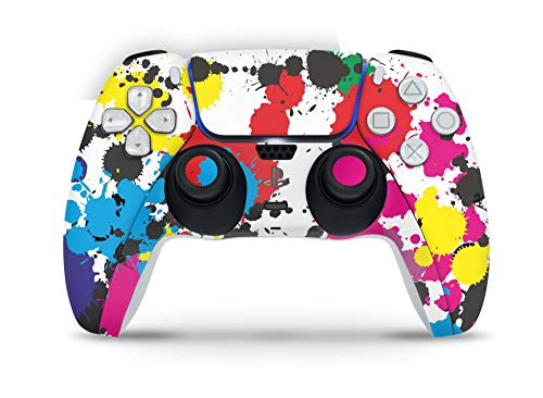 Skins4u Design Aufkleber Skin Wrap Folie für Sony Playstation 5 Controller PS5 DualSense Skins Schutz Folie Graffiti