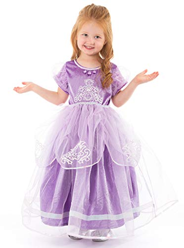 Little Adventures Deluxe Amulet Princess Dress up Costume for Girls Age 5-7 (Large)