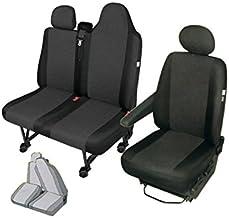 Juego de fundas de tela para asientos frontales (banco doble dividido y conductor)
