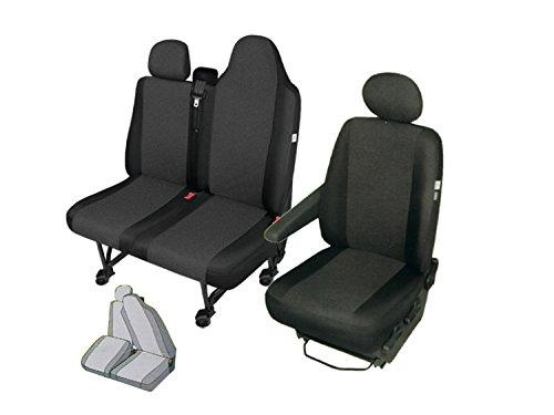 Coprisedile in tessuto per sedile anteriore. Coprisedile set guida per sedile doppio (doppio sedile diviso)