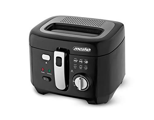 mesko MS-4908 Freidora de Aceite 2,5 Litros, 1800W, Antiadherente, Libre de BPA, 2.5 litros, 0 Decibelios, Plastic, Negro