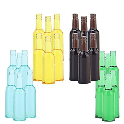SHYEKYO Mini Botellas de Vino de casa de muñecas, diseño Realista y excelente Mano de Obra Bebidas de Cerveza de casa de muñecas en Miniatura para Cocina de casa de muñecas para niños
