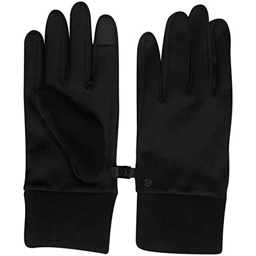 Men's Lightweight Black Running Gloves, Touch Screen Friendly