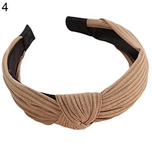 KeKeandYaoYao Zoete Vrouwen Handgemaakte Doek Hoofdband Kruis Knoop Breedgerande Haarband Eenvoudige Hoofd Wrap Twisted Leuke Haaraccessoires Hoofddeksels
