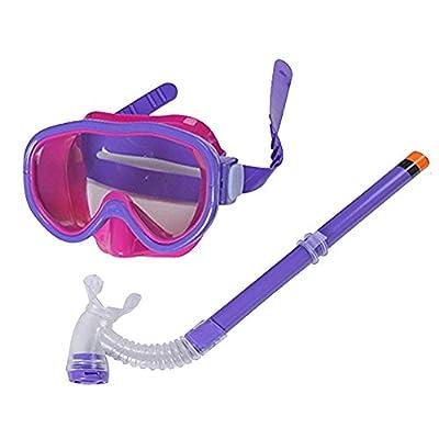 Smolisi Kids Youth Water Sports Silicone Scuba Swimming Swim Diving Mask Snorkel Glasses Anti Fog Goggles Set?Purple?