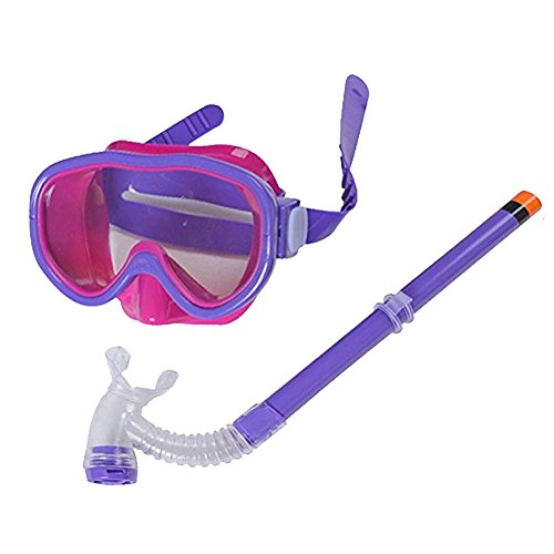 Smolisi Kids Youth Water Sports Silicone Scuba Swimming Swim Diving Mask Snorkel Glasses Anti Fog Goggles SetPurple