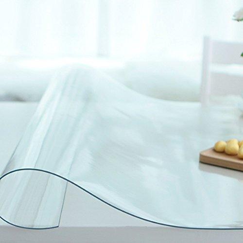 à manger nappe Papier peint transparent épais Tissu en mousse souple PVC Matière imperméable à l'éponge Manteau isolant Manteau rectangulaire carré (Transparent) (taille facultative) durable