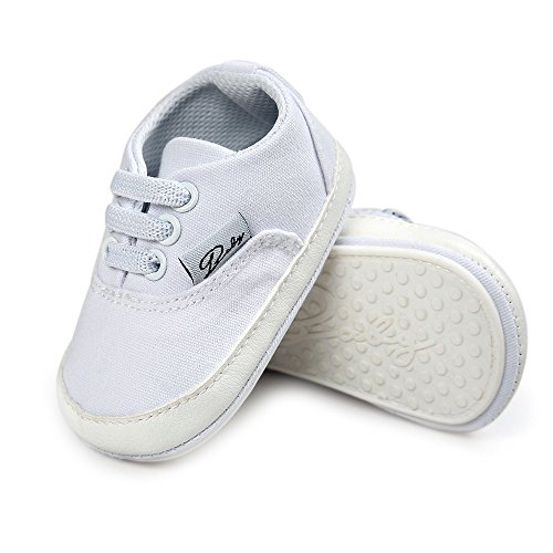 Baby Boys White Canvas Slip on Shoes