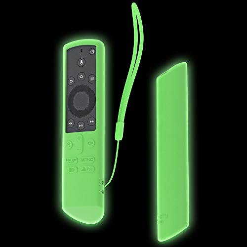 SIKAI Silicone Case for Insignia/Toshiba 4K Smart TV Voice Remote/Element Smart TV Voice Remote Shockproof Protective Cover for Toshiba Fire TV Edition Remote (Glow in Dark Green)
