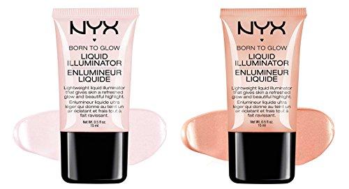 """2 NYX Born To Glow Liquid illuminator Full Set """"LI 01 & LI 02"""""""