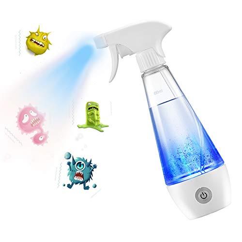 Fankr Desinfectantes caseros 84 Botella de Spray generador de hipoclorito de Sodio Máquina de Fabricación de Agua de Limpieza Máquina de Electrólisis de Sal Y Agua 300ML USB Carga
