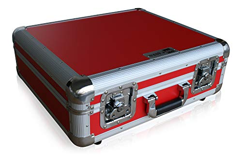 Platenspeler case voor Technics Turntable DJ Flightcase Rack Koffer rood