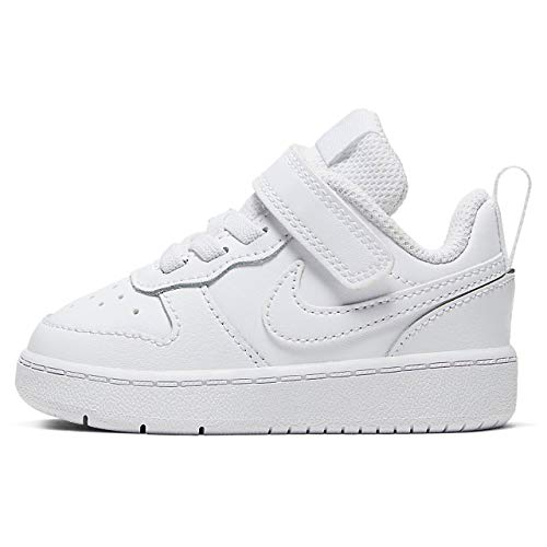 Nike Court Borough Low 2 (TDV) Sneaker, White/White-White, 22 EU