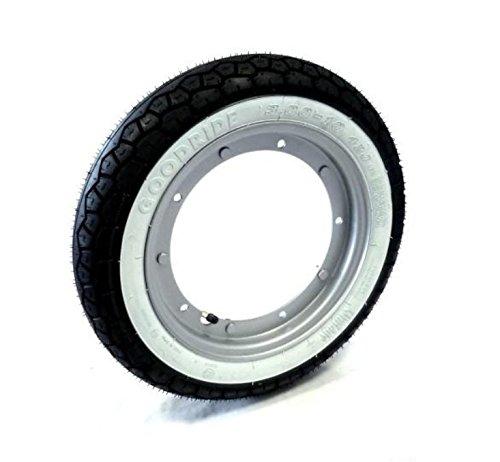 Llanta de rueda completa con banda blanca 3.00-10 para Vespa 50 Special 125 Primavera ET3 PK