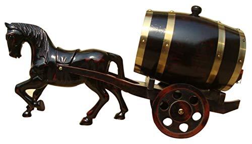 AMDHZ Roble envejeciendo barriles Whisky Barrel Dispensador Cubo de Vino Sin Fugas para Almacenamiento Vino y espíritus y Whisky, Carro de Regalo, 5L Decantador de Whisky