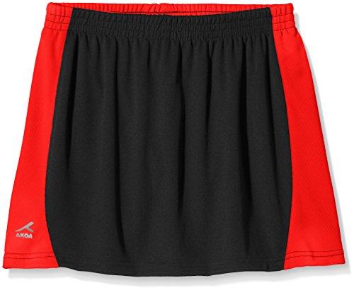 Trutex Mädchen Sport Rock Sector Skort Skirt, Schwarz (Black/Scarlet), 9-10 Jahre