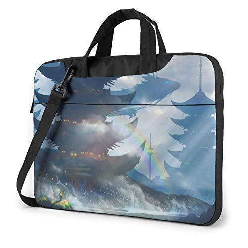 Laptop Shoulder Bag, Ancient Castle Briefcase Protective Bag