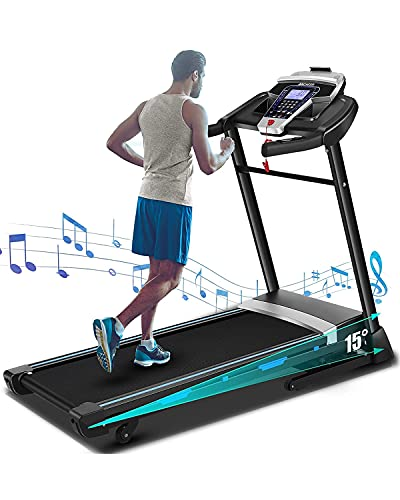 FUNMILY 3.25HP Folding Treadmill, Electric Automatic Incline Treadmill, Motorized Walking Running Jogging Machine for Gym Home & Office Workout - 2021 Updated Version