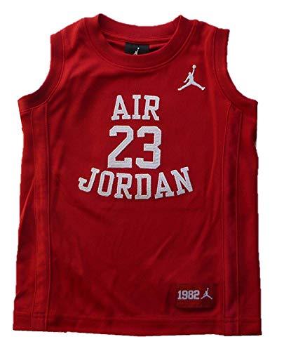 Nike Air Jordan Little Boys' Youth Classic Mesh Jersey Shirt (6, Gym Red)