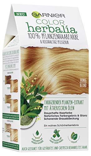 Garnier Color Herbalia Honigblond, Pflanzenhaarfarbe mit Henna, Indigo und ätherischen Ölen, vegane Haarfarbe, 3er Pack
