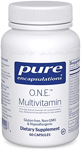 Pure Encapsulations O.N.E. Multivitamin | Once Daily Multivitamin with Antioxidant Complex Metafolin, CoQ10, and Lutein to Support Vision, Cognitive Function, and Cellular Health* | 60 Capsules