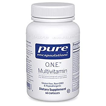 Pure Encapsulations O.N.E Multivitamin   Once Daily Multivitamin with Antioxidant Complex Metafolin CoQ10 and Lutein to Support Vision Cognitive Function and Cellular Health*   60 Capsules