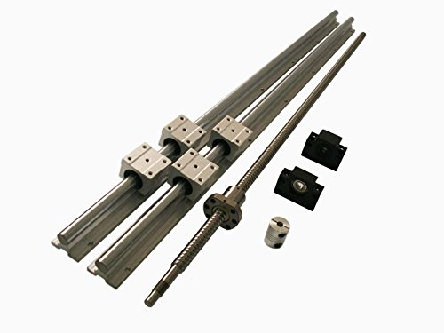 Joomen CNC SBR16 support rail RM1204 ballscrew 400mm Linear Motion Kit