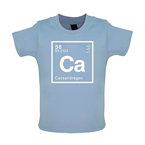 CASSANDRA - Periodic Element - Baby / Toddler T-Shirt - Dusty Blue - 6-12 Months