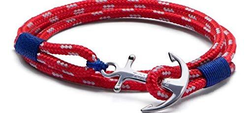 TOM HOPE Armband Nautica rot mit Anker TM0013 rot