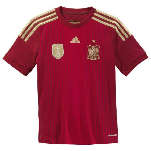 adidas Kid's Spain Home Jersey (X-Large)