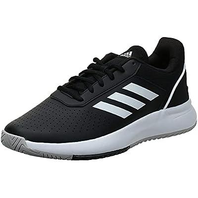 Adidas Courtsmash, Zapatillas de Tenis Hombre, Core Black Cloud White Grey, 43 1/3 EU