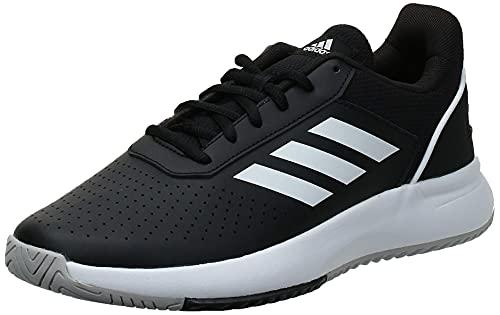 Adidas Courtsmash, Zapatillas de Tenis Hombre, Multicolor (Negbás/Ftwbla/Gridos 000), 43 1/3 EU