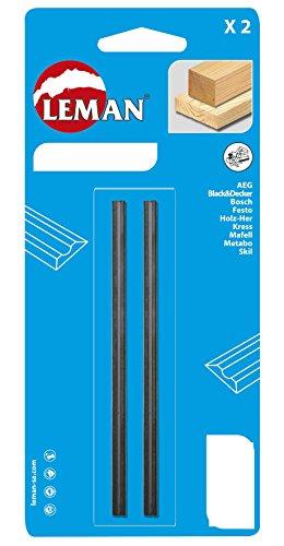 Leman 142.778.02 Pack de 2 Cuchillas de Cepillo eléctrico, MD 78 x 5,5 x 1,1 mm, Set de 2 Piezas