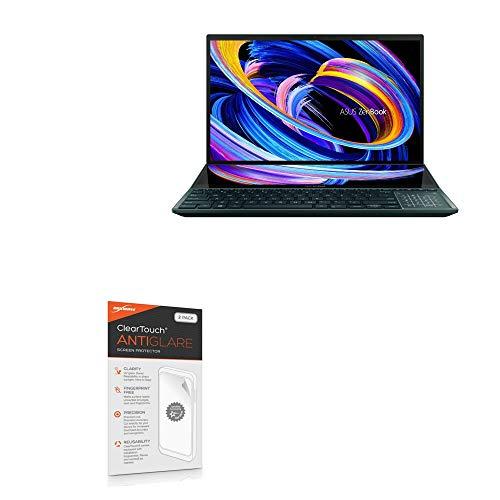 BoxWave Protetor de tela para ASUS ZenBook Pro Duo 15 (UX582) [ClearTouch Anti-Glare (pacote com 2)] Película fosca anti-impressão digital para ASUS ZenBook Pro Duo 15 (UX582)