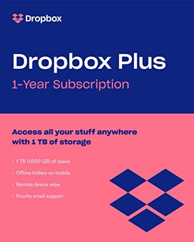 Dropbox Plus | 1 utilisateur | 1 année | PC/Mac | Online Code