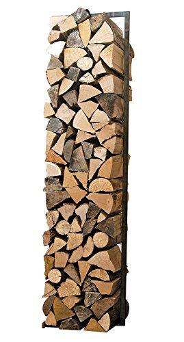 Raumgestalt - WoodTower, Gestell für Holz aus verzundertem Stahl (h150xb40cm)