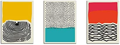 Mid Century Modern Abstract Art Prints Abstract Canvas Poster Canvas Wall Art Paintings for product image