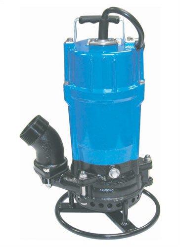 Tsurumi HSD2.55S-61 Semi-Vortex Submersible Trash Pump with Agitator, 3/4 HP, 115V, 2' Discharge